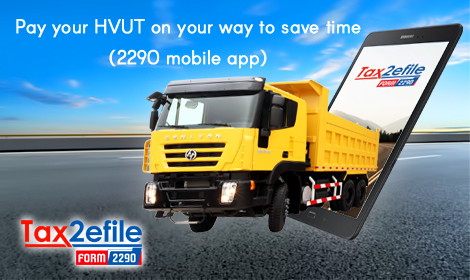 Pay your HVUT on your way to save time (2290 mobile app)