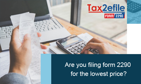 are you filing form 2290 for low price