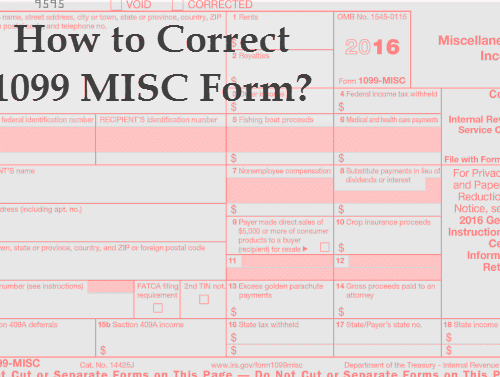 How to Correct a 1099 Form