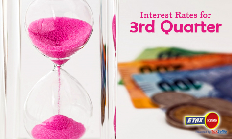 Interest Rates for 3rd Quarter
